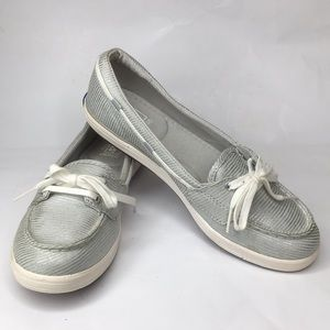 Keds Glimmer Silver/Gray Loafer